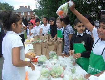 Children are in the market for learning about food!