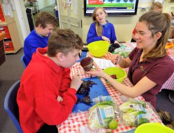 Children from Parkside School, Norwich have a tasty time!
