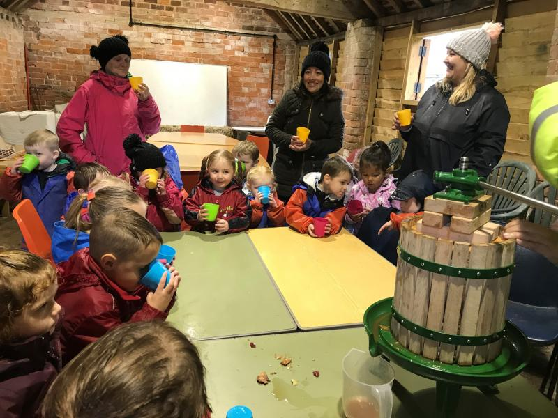 Apple juice flows freely for St Oswald's at Haye Farm