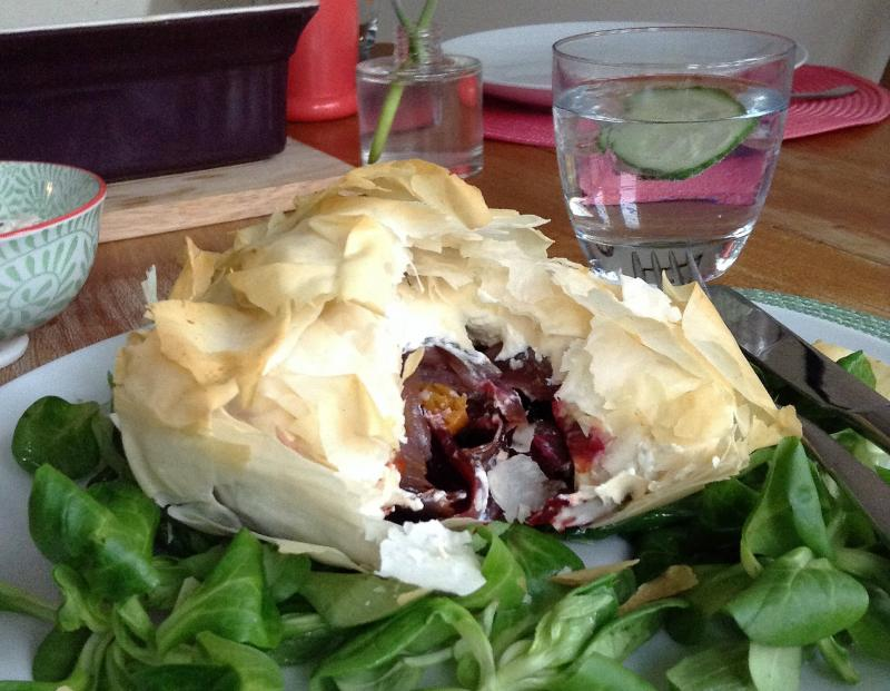 Cheesy Beetroot Parcels