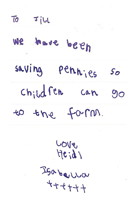 Letter from Isabell and Heidi